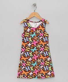 Take a look at this Brown Butterfly Party Fit & Flare Dress - Infant, Toddler & Girls by Bubble & Squeak on #zulily today!