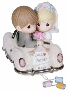 "Precious Moments ""Just Married"" by Precious Moments, http://www.amazon.com/dp/B00462QYK8/ref=cm_sw_r_pi_dp_Iyausb01QGEYW"