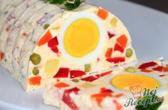 Egg terrine - step by step / Czech Recipes, Russian Recipes, Appetizer Dips, Appetizers For Party, Mary Berry, Party Buffet, Food Decoration, Banana Split, Four