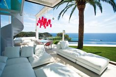 Sofas, Lighting, Sea Views, Spectacular Oceanfront Home in Tossa De Mar, Spain