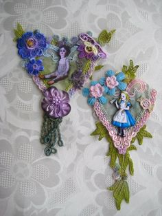 GRAB BAG J Creepy Victorian doll and Alice in by JenniesHeirlooms