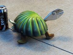 Turtle metal garden art crafted out of salvaged by Sistersteel, $55.00