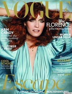 Florence Welch by Mario Testino for Vogue UK January 2012 #fashioncover