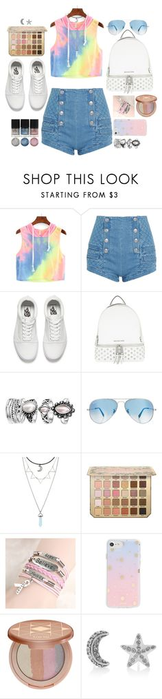 """""""tye-dye sun rise"""" by rozigurl-rb ❤ liked on Polyvore featuring Pierre Balmain, Vans, MICHAEL Michael Kors, Ray-Ban, Sonix, tarte and Marc Jacobs"""