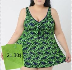 Brief Printed Plunging Neck Swimsuit For Women