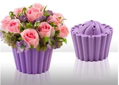 decor idea - cupcake floral arrangements
