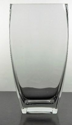 """Sturdy Tapered Rectangle Clear Glass 11-3/4"""" Vases"""