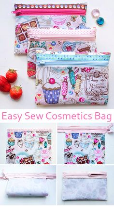 A very simple makeup bag. ~ ~ Sewing projects for beginners. Step by step sew tutorial. How to sew illustration.A very simple makeup bag for beginners. A very simple makeup bag for beginners. Source by The post A very simple makeup bag for beginners. Sewing Hacks, Sewing Tutorials, Sewing Crafts, Sewing Tips, Makeup Bag Tutorials, Cat Crafts, Pochette Diy, Sew Ins, Leftover Fabric