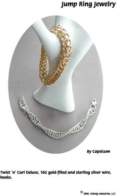 Jump Ring Wire and Beads Jewelry made with WigJig jewelry making tools and jewelry supplies.
