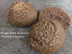 Burger buns di farina di grano saraceno : il post di una ricetta, di un libro che vado a consigliarvi e di una leggenda metropolitana sulla nascita dell'hamburger :-) Tutto ha avuto inizio da… Burger Buns, Fodmap, Hamburger, Bread, Cookies, Chocolate, Desserts, Food, Book