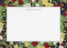 Isabela Floral Horizontal by Oscar de la Renta for Paperless Post. Custom personal stationery available in five different printing methods. View more personal stationery on paperlesspost.com