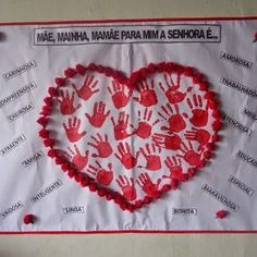 Mural Dia das Mães Painel decoração 6 Diy Arts And Crafts, Crafts For Kids, Valentine Day Crafts, Valentines, Diy Photo Backdrop, Mom Day, Saint Valentine, Child Love, Pre School