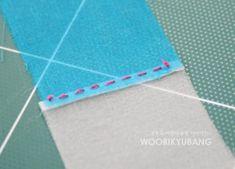 노방쪽보의 조각을 잇는 방법 간단하게 설명합니다~ 1. 헤라질로 시접잡아주시구용~~ 2. 매듭을 맺은 실로 ... Needlework, Diy And Crafts, Outdoor Blanket, Card Holder, Sewing, Crochet, Cards, Blog, Tutorials