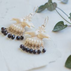 Kissing Doves in ivory and pearls
