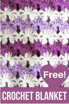 Do you love easy and quick crochet blanket patterns? Then try this beautiful afghan that is made with a simple stitch that looks like rows of flowers. This free pattern is beginner friendly and will help you make a unique afghan fast. Unique Crochet, Beautiful Crochet, Free Crochet, Crochet Box Stitch, Quick Crochet Blanket, Crochet Blankets, Baby Blankets, Crochet Lamp, Crochet Leg Warmers