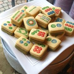 Mahjong cookies by my sis! (Post: Olivia White)