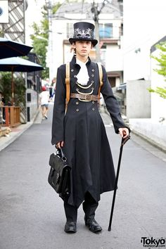 Hisahiro in Japanese Steampunk Fashion w/ Atelier Boz & Garuktone in Harajuku