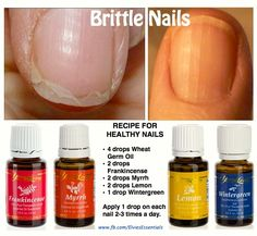 Save your nails! Brittle nails Young Living Essential Oils | Nail brittle nails Lemon, Frankincense, Myrrh, and Wintergreen. Best combo ever. Click to purchase at 24% off with a wholesale account.