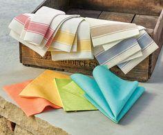 Color fiber napkins and stripe fiber napkins
