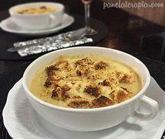 PANELATERAPIA - Blog de Culinária, Gastronomia e Receitas: Sopa de Cebola Gratinada