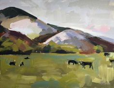 Cows in the Pasture Original Oil Painting by Angela Moulton pre-order
