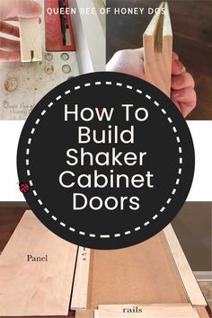 All it takes is a table saw and a few simple tricks and you will have your own custom sized shaker doors! Basic woodworking skill for cabinet makers and carpenters. Built In Cabinets, Built In Shelves, Shaker Cabinet Doors, Kitchen Cabinets In Bathroom, Woodworking Skills, Cabinet Makers, Queen Bees, Panel Doors, A Table