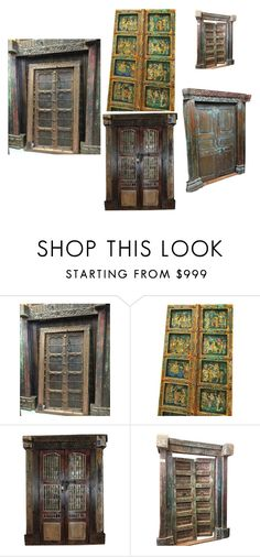 Welcome Carved Doors by era-chandok on Polyvore featuring interior, interiors, interior design, home, home decor, interior decorating, antiquedoor, welcomegate and handcarveddoor