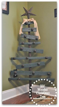 DIY Wooden Christmas Tree.....Here ya go Jennier Sullivan, here is you a tree :)