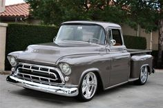 55 Chevy Apache Step Side PU, and She is  Gorgeous.