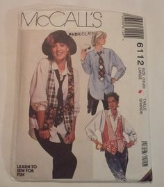 6112 McCall's Misses Shirt Vest and by MammieandPappysPlace