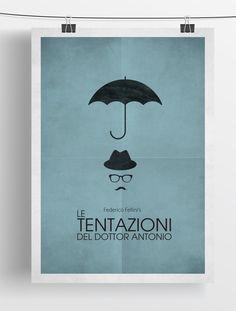 MINIMALIST FELLINI FILM POSTERS by Zoki Cardula, via Behance