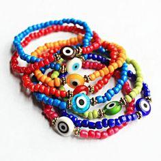 Evil Eye Bracelet Macrame Bracelets Jewelry Diy Wire