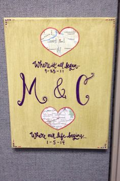 Personalized wedding gift // map of your choice// by BiblebyHand, $30.00