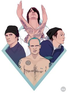 Red Hot Chili Peppers illustration by Kitty Rouge
