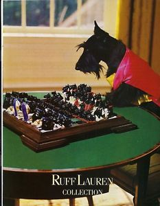 1988 Scottish Terrier Plays Chess Dog Pieces Ruff Lauren Fashion PARODY Photo Ad | eBay