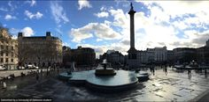 #BlueHens explore Trafalgar Square in London. Photo by Beckie Liwacz aka @BlueHenBeckie on Twitter. #UDAbroad