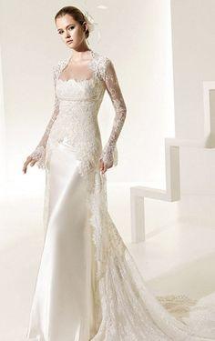 A-line Floor-length Spaghetti Straps Wedding Dress