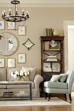 Gallery wall in living room