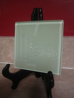 Cut, Craft, Create: Etching on a Glass Tile