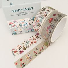 2 Rolls Washi Adhesive Tape Decorative Kawaii by TheSupplyHaven