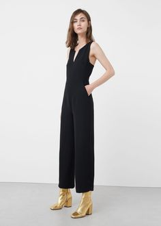 Wrap-back short jumpsuit | MANGO