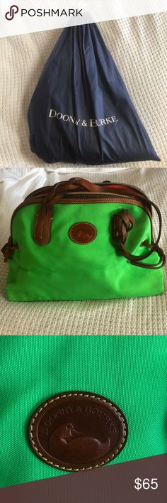Dooney & Bourke green handbag 👜 Hardly used. Has been more in its dust bag and storage than it's seen light! Offers are negotiable :-) Dooney & Bourke Bags Totes
