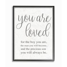 Stupell Industries 11 in. x 14 in. You Are Loved by Daphne Polselli Wood Framed Wall Art, Multi-Colored Stupell Industries 11 in. x 14 in. You Are Loved by Daphne Polselli Wood Framed Wall Art, Multi-Colored Boy Wall Art, Framed Wall Art, Wall Décor, Love Frames, Thing 1, Kids Wood, Kids And Parenting, Parenting Styles, Foster Parenting