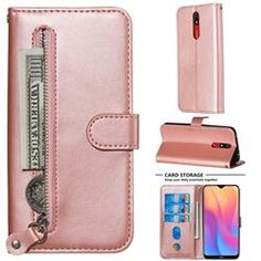 Retro Luxury Zipper Leather Phone Wallet Case for Xiaomi Mi Note 10 / Note 10 Pro / Pro - Pink, with Card Slots and Money Pocket from Guuds Iphone 8 Plus, Iphone 11, Pink Galaxy, Galaxy Art, Nokia 1, A30, Phone Wallet, Galaxy Note 8, Leather Material