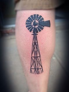 Windmill - part of a sleeve - part of my childhood / roots - farm.
