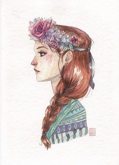 Esther Gili - ESTACIONES #Illustration #Art #Girl Abstract Watercolor Art, Watercolor Illustration, Girl Sketch, Art Girl, Painting & Drawing, Amazing Art, Character Art, Art Drawings, Art Photography