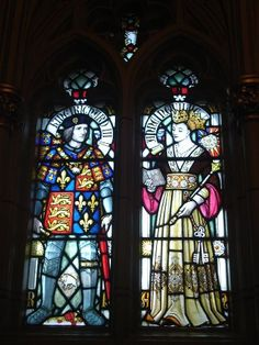 Stained Glass at Cardiff Castle - Richard III and Queen Anne  Oh, one of my favorite kings.