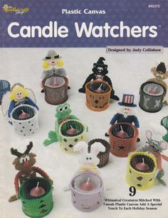 Candle Watchers, Needlecraft Shop Plastic Canvas Pattern 842372 Holiday Decor…