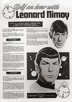 Spend some time with Leonard Nimoy and Spock.