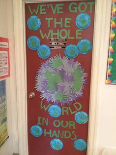 Recycling bulletin board bulletin boards pinterest for Eco friendly doors